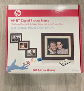 HP Digital Picture Frame 8 inch Solid Wood with 4 Mats DF820B4