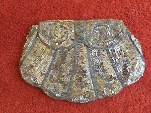Beautiful Vintage Sequinned 1920's/1930's Clutch Bag