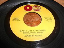 Marvin Gaye DETROIT MOTOWN 45 Can I Get a Witness / I'm Crazy Bout My Baby