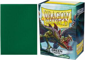 Dragon Shield Sleeves: Matte - Green (100)