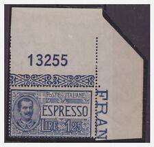 REGNO 1925  - ESPRESSI -  Lire 1,25   NUOVO  **  NUMERO DI TAVOLA