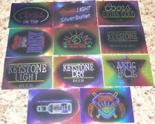 Coors Brewing Cards 1995. Partial insert set of 19 different inserts. Mint.