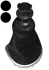 Soufflet de levier vitesse noir en 100% cuir pour Renault Clio 3 2005-2012