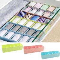 Caja de Almacenamiento Organizador De Plástico 5 células Corbata Bra Calcetines