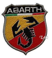 Fiat 500 Abarth F1 Carreras Bordado Iron-Sew Parche Insignia Vendedor Gb