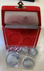 1964 Egypt U.A.R. Cairo Mint SILVER Proof Set** Sealed And Original Box