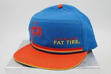 New Belgium Brewing Fat Tire Beer Hat Cap Orange Blue Adjustable Bicycle Bike