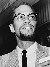 Impresión Poster Foto Retrato de los derechos civiles Hero Malcolm X nación Islam nofl0394