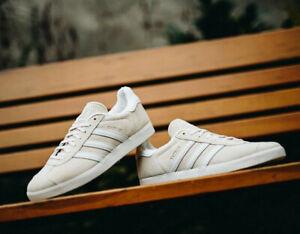 Adidas Originals Gazelle Beige White Shoes Trainers RRP £74.95
