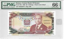 1990 Kenya 50 Shillings PMG 66EPQ - Scarce in this Quality Grade
