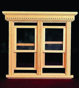 1:12 Scale Working Double Sash Window Frame Dolls Tumdee House Miniature 184