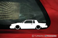 2x LOW Buick Regal Grand national muscle car silhouette stickers,Decals