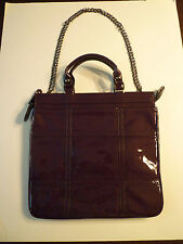 NWOT: Be&D Twiggy Patent Leather Tote Bag in Plum (Dark Purple), $900+!!!