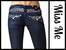 Miss Me Dark Blue Sequin Embellished Womens Bootcut  Jeans  ~  27 M3020