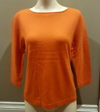 Lusso 100% Cashmere Top Pullover in Orange Size Large 12/14 Canadian