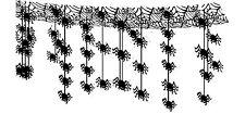 3 m gruselige hängende Spinnen Dekoration  für Decke Wand Tür Halloween Spider