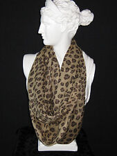 Tolani Brown Leopard Print Infinity Scarf  Brand New with Tags!