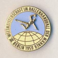 1958 World HANDBALL Championships PIN BADGE very NICE East Germany BERLIN