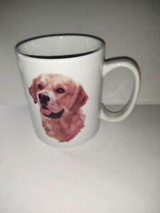 Large 12 oz Dog Doggie Lover Collectible Coffee Mug Golden Retriever BowWowMeow