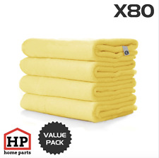 80 X Professional Washable Microfibre Cloths Extra-Large Super Thickness Yellow