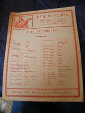 Partition Guitare Luis Milan Emilio Pujol Pavane II Music Sheet