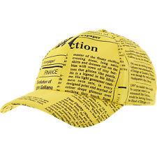 JOHN GALLIANO Men's Yellow Newspaper Baseball Cap-One Size