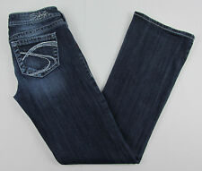 Silver jeans Tuesday Boot cut Blue Prominent stitching Womens Size W 27 / L 33