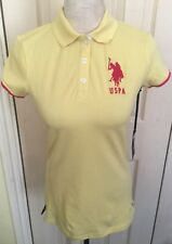 BNWT US Polo Assn. Women Yellow Short Sleeve Polo Shirt Top XS