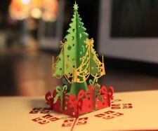 3D Christmas Stereoscopic Pop Up Tree Greeting Card