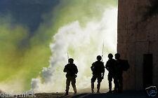 Royal Navy Marines 40 Commando FIBUA Training Soldiers 12x8 Inch Photo