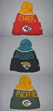 New Era NFL 2015 SPORT TEAMS KNIT Football Cap cuff winter Youth Beanie Pom OSFM