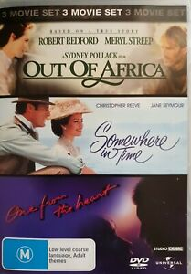 OUT OF AFRICA, SOMEWHERE IN TIME, ONE FROM THE HEART DVD - Free Post