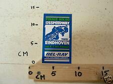 STICKER,DECAL EINDHOVEN FINALE WK 80 IJSSPEEDWAY 8 EN 9 MAART ICE SPEEDWAY