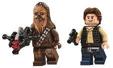 LEGO STAR WARS MINFIGURE HAN SOLO & CHEWBACCA DEATH STAR FALCON 75159 75105