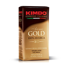 Kimbo Espresso Gold 100% Arabica Ground Coffee 250g