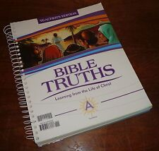 Bob Jones Bible Truths Learning from the Life of Christ Teacher's Edition w/ CD