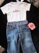 JEANS/TOP girls playclothes My Funny Valentine New W Tags 12 mon Baby gift.
