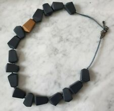 Elk Women's Necklace, Navy Blue Beads