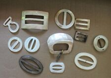 Mother-of-Pearl Buckles Lot of 12  Belt Buckles Very Vintage Accessory