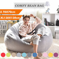 Extra Large Bean Bag Chair Sofa Cover Indoor Outdoor Game Seat Couch Lazy Adults