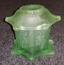 Vintage Homco Oriental Pagoda Frosted Glass Fairy Lamp Votive Candle Tea Light