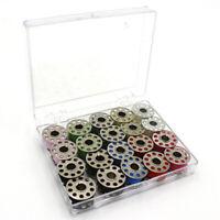 20Pcs Sewing Machine Bobbin Threads With Storage Case Box, Pre-Wound Bobbins Set