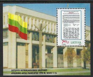 Lithuania  - Beautiful MNH Souvenir Sheet Scott 662.................P02....D 816