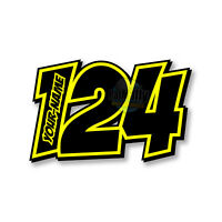 "RACE NUMBERS NAME DECALS STICKERS TRACK GRAPHICS - RATMALLY ""POW-NEON-2"""
