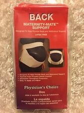 Physicians Choice  Maternity Support Back & Abdominal Belt, Large, New
