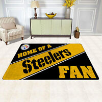Pittsburgh Steelers Home Of A Fans Area Rug Modern Room Carpet Flannel Floor Mat
