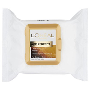 L'Oreal Paris Age Perfect Cleansing Smoothing Face Wipes for Mature Skin x25