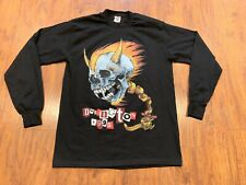 Vintage Metallica 1995 Shirt Skull 90's Concert Band Tee Donington Long sleeve