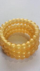 Large Thick Spiral Plastic Stretchy Blonde Hair band Hairband Bobble Stretchy