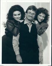 1987 Press Photo Delta Burke Lewis Grizzard Dixie Carter Designing Women TV